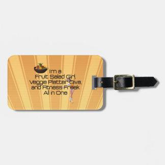 SPITZENfruchtsalat-Fitness Gepäckanhänger