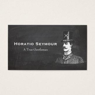 Spitzenhut mit Schere-Vintagem Friseur-Geschäft Visitenkarte