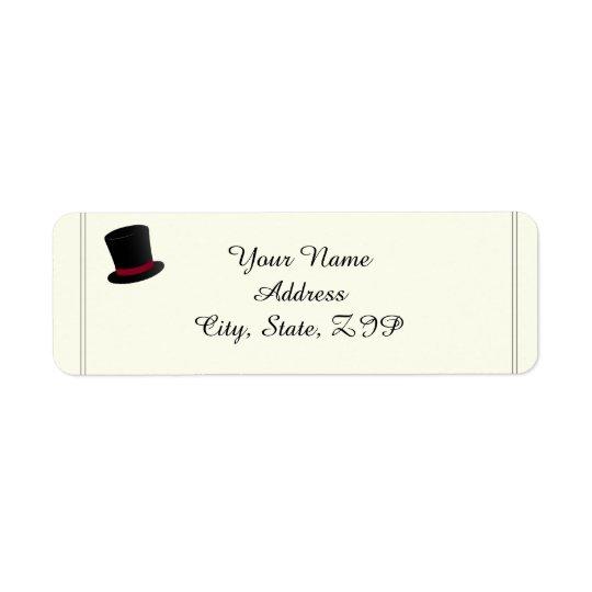 Spitzenhut-und Bogen-Krawatten-Rücksendeadresse