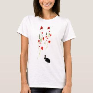 Spitzenmohnblumen-Blumen-Häschen-Kaninchen T-Shirt