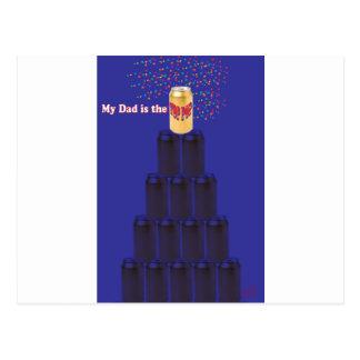 SpitzenPop für den Vatertag Postkarte