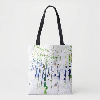 Splattered Farbe Tasche