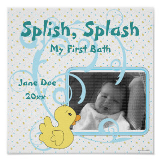 Splish Spritzen-Ducky Einklebebuch-Seite Poster