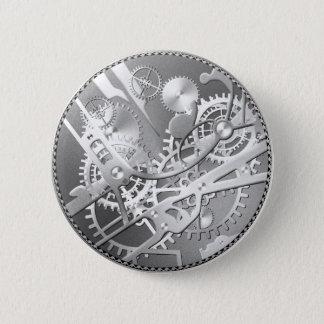 Splitter steampunk Uhrgänge Runder Button 5,7 Cm