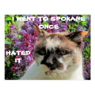 Spokane? Gehasst ihm Postkarte