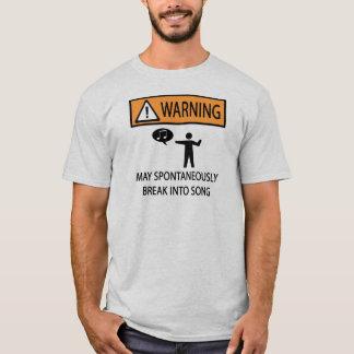 Spontaner Sänger T-Shirt