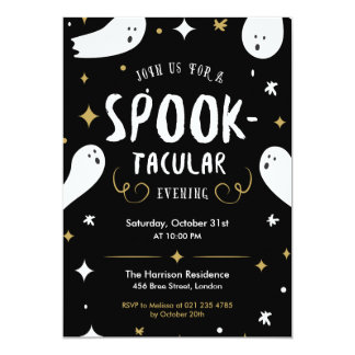 Spooktacular Halloween-Party-Einladung Karte
