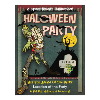 Spooktacular Halloween Zombie-Party Flyer