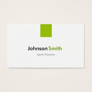 Sport-Arzt - einfaches tadelloses Grün Visitenkarten