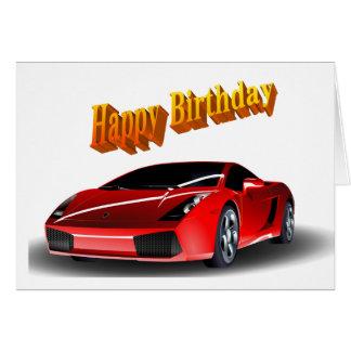 Sport-Auto-alles Gute zum Geburtstag Grußkarte