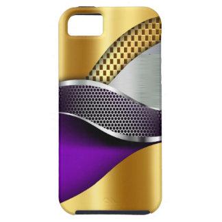 Sport-Auto-Goldsilber-Masche lila Schutzhülle Fürs iPhone 5