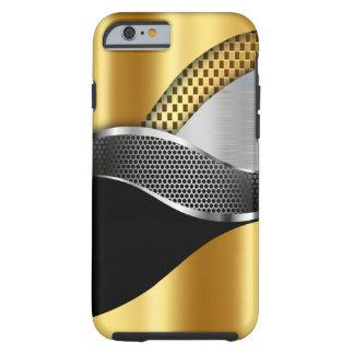 Sport-Auto-Goldsilber-Maschenschwarzes Tough iPhone 6 Hülle