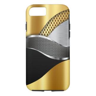 Sport-Auto-Goldsilber-Maschenschwarzes iPhone 7 Hülle