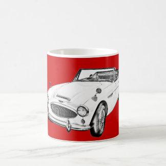 Sport-Auto-Illustration Austin Healeys 300 Kaffeehaferl