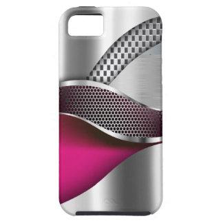 Sport-Auto-metallisches silbernes Masche fuschia iPhone 5 Schutzhüllen