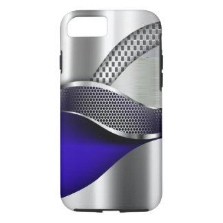 Sport-Auto-metallisches silbernes Maschenblau iPhone 7 Hülle