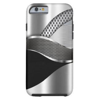 Sport-Auto-metallisches silbernes Maschenschwarzes Tough iPhone 6 Hülle