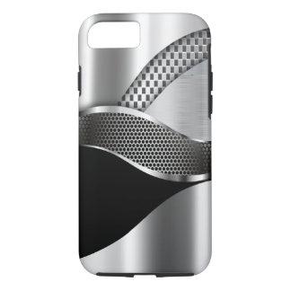 Sport-Auto-metallisches silbernes Maschenschwarzes iPhone 7 Hülle