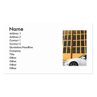 Sport-Auto-Visitenkarte