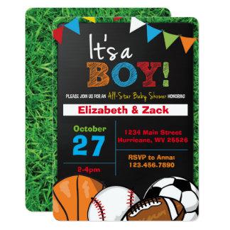 Sport-Babyparty-Einladung Karte