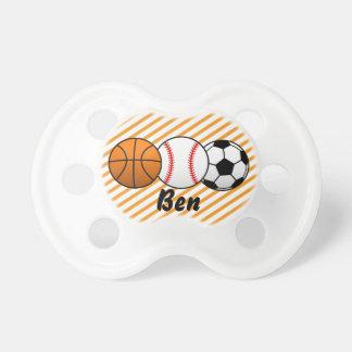 Sport Basketball, Baseball, Fußball-Baby-Schnuller Schnuller