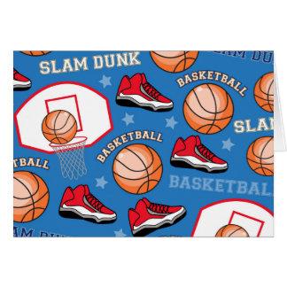 SPORT Basketball-Slam Dunk-Spaß-Athleten-Muster Karte