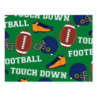 SPORT Fußball setzen Spaß-buntes Muster auf Postkarte