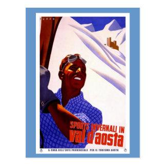 Sport in Val d'Aosta Postkarte