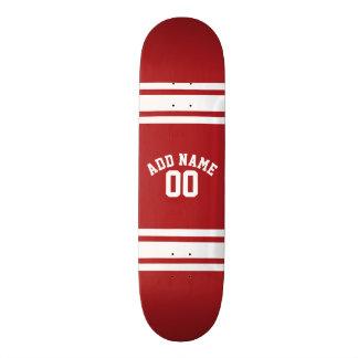 Sport Jersey mit Ihrem Namen und Zahl Personalisierte Skateboards