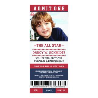 Sport-Karten-Bar Mitzvah lädt ein 10,2 X 23,5 Cm Einladungskarte