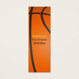 Sport-Party-Basketballthema Geschenk Tagt Mini Visitenkarte