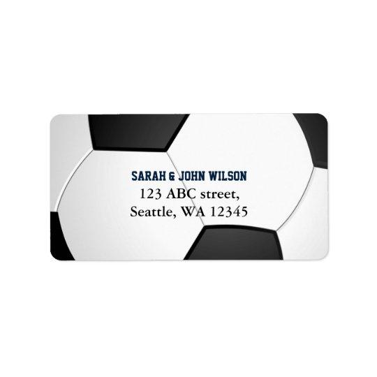 Sport-Party-Fußballthema-Adressen-Etikett Adress Aufkleber