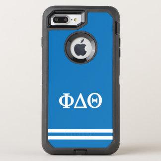 Sport-Streifen des Phi-Deltatheta-  OtterBox Defender iPhone 8 Plus/7 Plus Hülle
