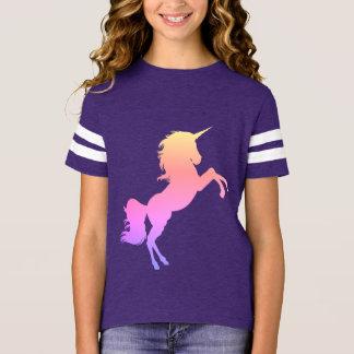 Sport T-shirt des Mädchens - Einhorn ,(Violett)