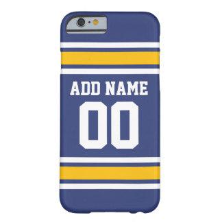 Sport-Team Jersey mit individuellem Namen und Zahl Barely There iPhone 6 Hülle