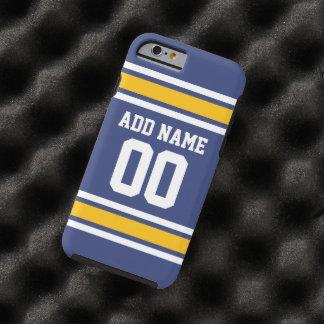 Sport-Team Jersey mit individuellem Namen und Zahl Tough iPhone 6 Hülle