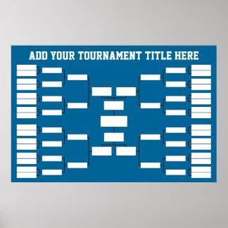 Sport-Turnier-Klammer Poster