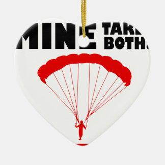 Sport und skydive, Bergwerk nimmt beide Keramik Ornament