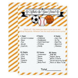Sport, was in Ihrem Geldbeutel-Babyparty-Spiel ist Karte