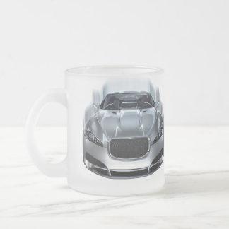 Sportauto in der Bewegungskaffee-Tasse Matte Glastasse