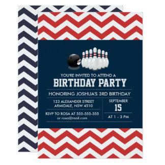 Sportgeburtstags-Jungeneinladung des Bowlings 12,7 X 17,8 Cm Einladungskarte