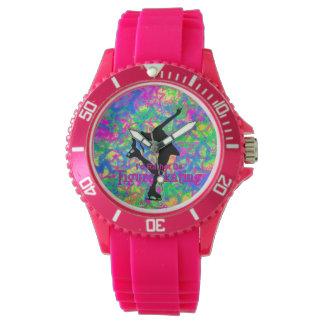 """Sportliche Rosa""""seien Sie eher Zahl Skaten"""" Uhr"""