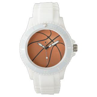 Sportliche weiße das Silikon-Armbanduhr der Frauen Armbanduhr