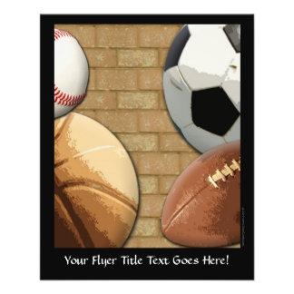 Sports Al-Étoile, basket-ball/football/football Prospectus 11,4 Cm X 14,2 Cm