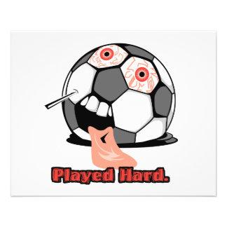 sports dégonflés drôles durs joués de ballon de fo prospectus personnalisés