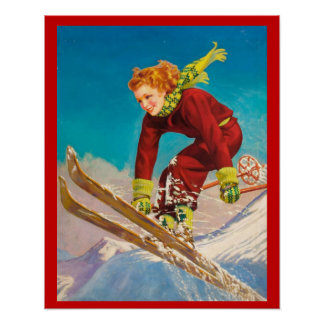 Sports d'hiver vintages, pullover de ski de Madame Poster