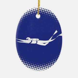 Sporttaucher-Halbtonkreis Keramik Ornament