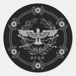 SPQR der römisches Reich-Emblem-Aufkleber Runder Aufkleber