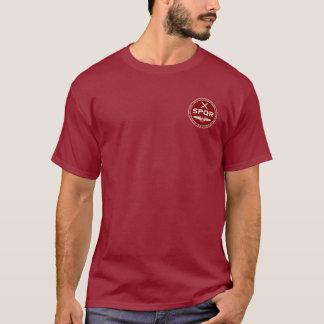 SPQR römische Legions-kastanienbraunes u. weißes T-Shirt
