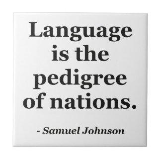 Sprachzucht- Nationen Zitat Keramikfliese